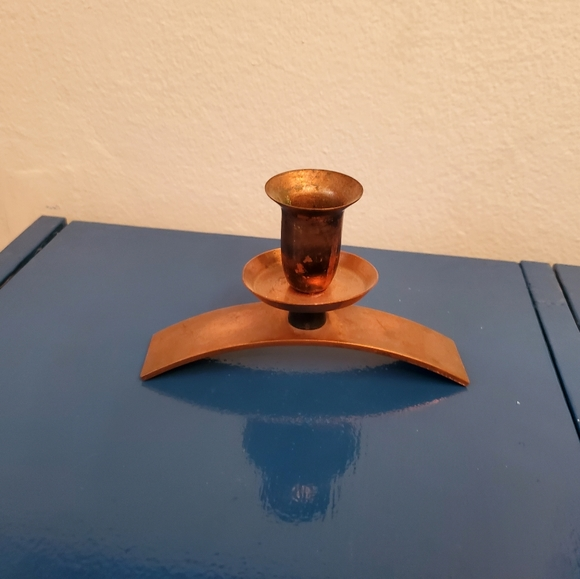 Copper arched candlestick
